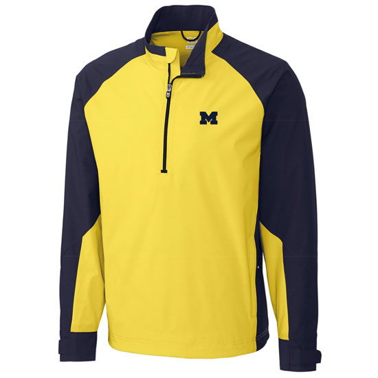 Cutter & Buck University of Michigan Summit 1/2 Zip Pullover Jacket