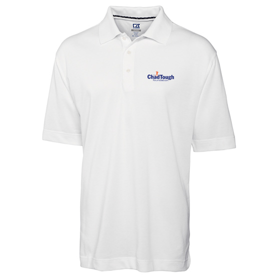 Cutter & Buck ChadTough Foundation White Polo