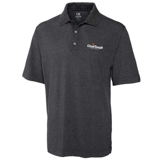 Cutter & Buck ChadTough Foundation Charcoal Gray Polo