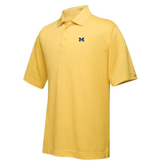 Cutter & Buck University of Michigan Yellow Basic Block M Polo