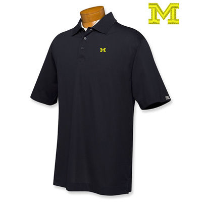 Cutter & Buck University of Michigan Navy Basic Block M Polo