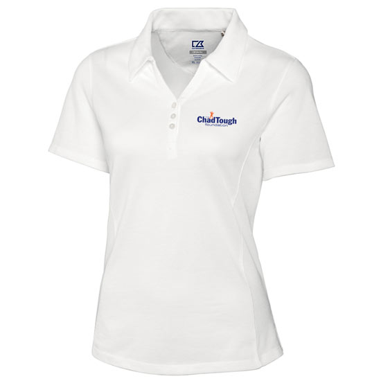 Cutter & Buck ChadTough Foundation Women's White Polo