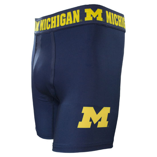College Concepts University of Michigan Navy CityScape Boxer Brief
