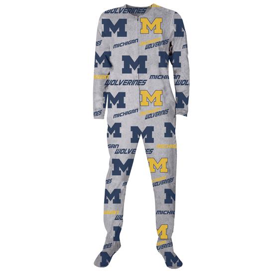 College Concepts University of Michigan ''Achieve'' Microfleece Union Suit