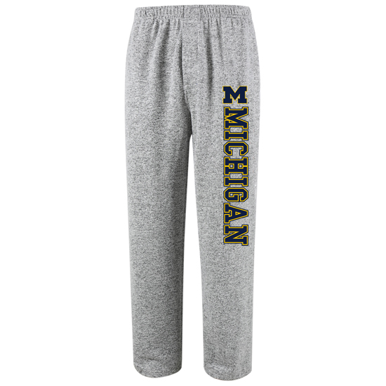 College Concepts University of Michigan Gray ''Reprise'' Supersoft Sleep Pant