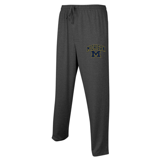 College Concepts University of Michigan Dark Heather Gray Article Sleep Pant