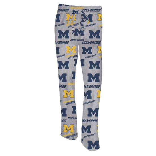 College Concepts University of Michigan Women's ''Achieve'' Microfleece Sleep Pant