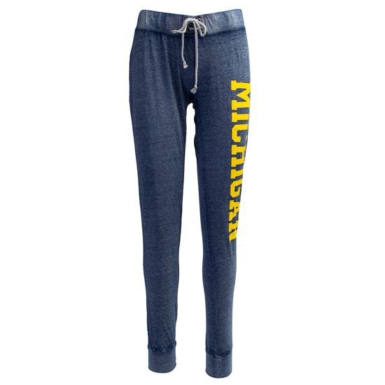 College Concepts University of Michigan Heather Navy Garment Washed Burnout Pant