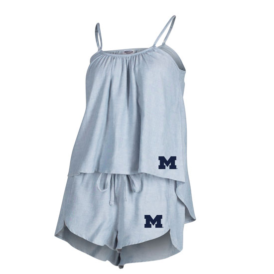 College Concepts University of Michigan Women's Chambray Camisole Tank Top and Short Set