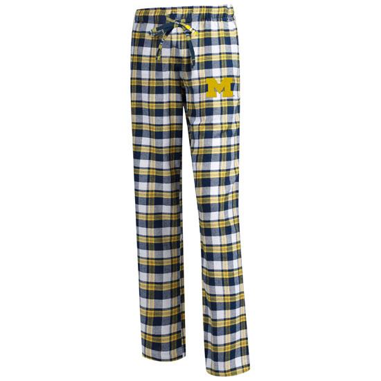 College Concepts University of Michigan Women's Peidmont Plaid Flannel Sleep Pant