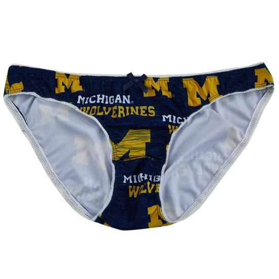 College Concepts University of Michigan Women's Navy ''Zest'' Bikini Brief Underwear