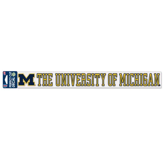 WinCraft University of Michigan Long Window Decal/Sticker