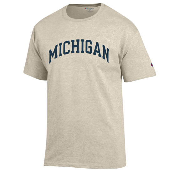 Champion University of Michigan Oatmeal Basic Tee