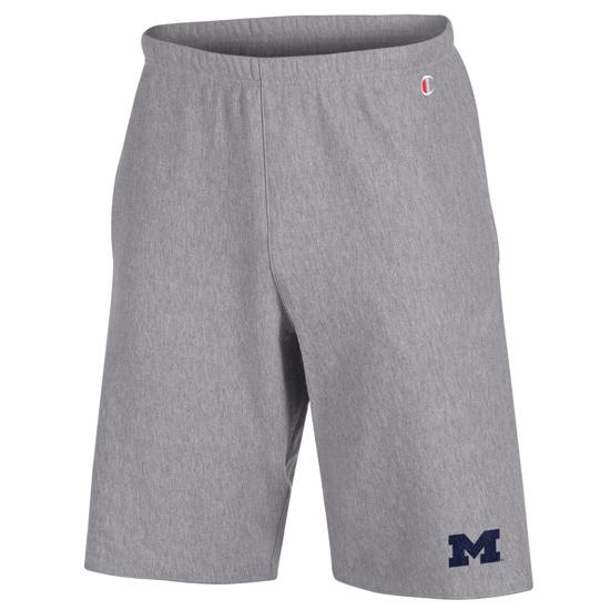 594908715d3 Champion University of Michigan Gray Reverse Weave Sweat Shorts. Product  Thumbnail