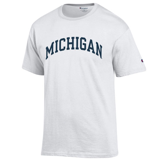 Champion University of Michigan White Basic Tee