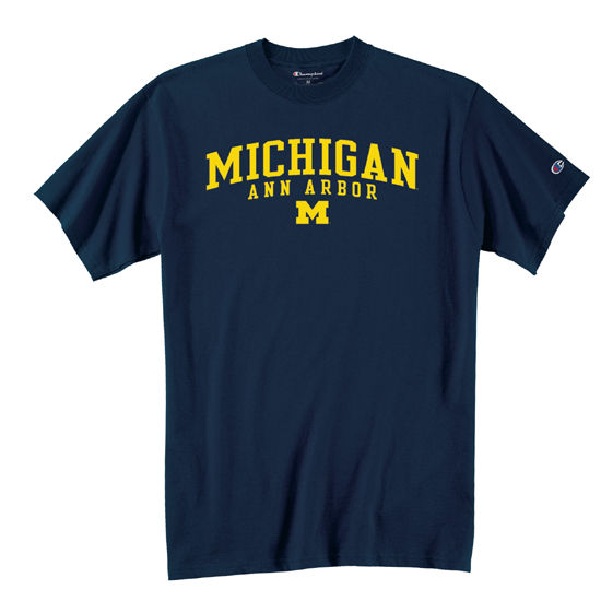 Champion University of Michigan Navy Ann Arbor Tee