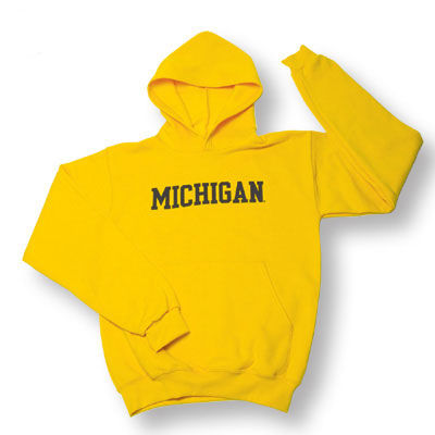 Champion University of Michigan Yellow Basic Arch Hooded Sweatshirt