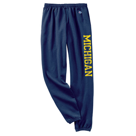 Champion University of Michigan Navy Vertical Print Sweatpants