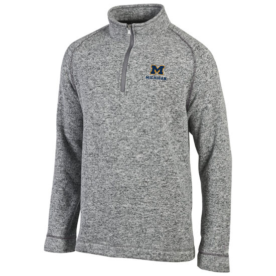 Champion University of Michigan Gray Arctic Fleece 1/4 Zip Pullover
