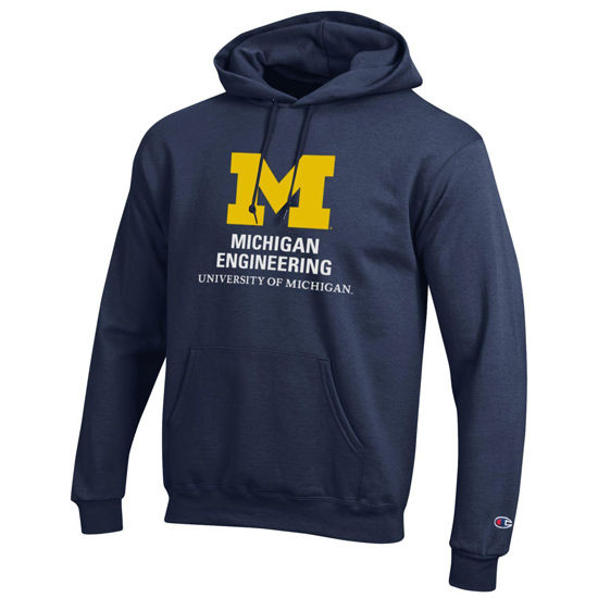 Champion University of Michigan Engineering Navy Hooded Sweatshirt