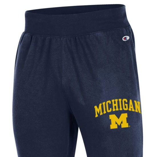 3bf1dcb8686 Champion University of Michigan Navy Rochester Fleece Jogger Pant