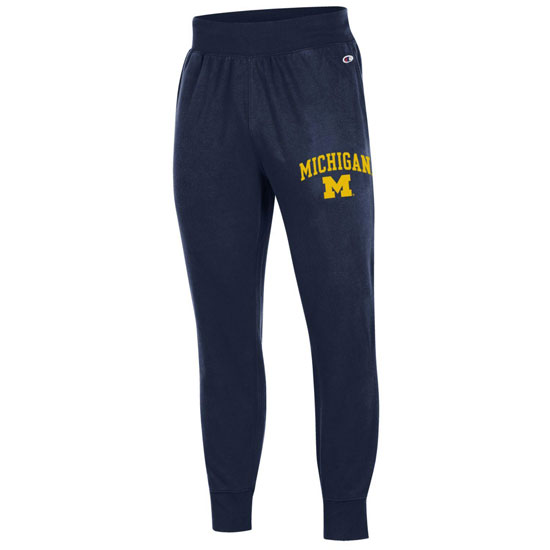 8b8972dbee7 Champion University of Michigan Navy Rochester Fleece Jogger Pant. Product  Thumbnail Product Thumbnail