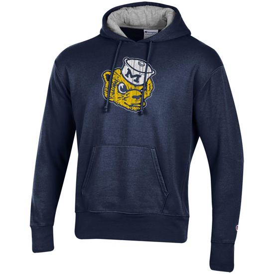 Champion University of Michigan Navy Rochester Fleece College Vault Wolverine Hooded Sweatshirt