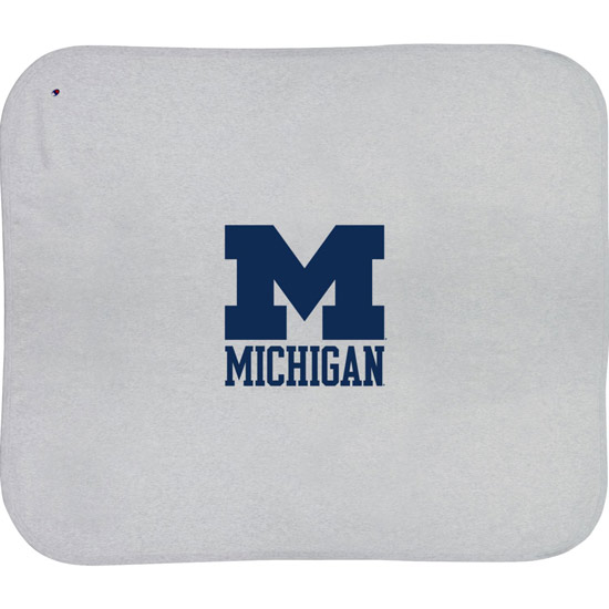 Champion University of Michigan Silver Gray Reverse Weave Blanket