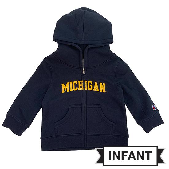 Champion University of Michigan Infant Navy Full Zip Hooded Sweatshirt