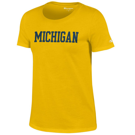 Champion University of Michigan Ladies Yellow University Tee