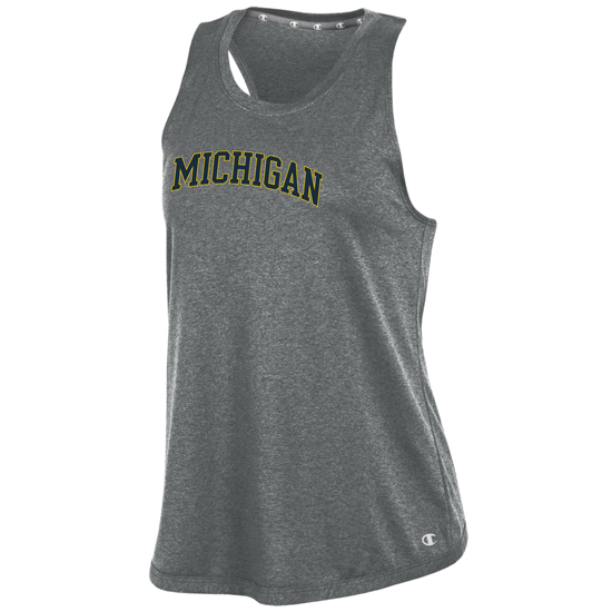 Champion University of Michigan Women's Titanium Gray Epic Traverse Tank Top