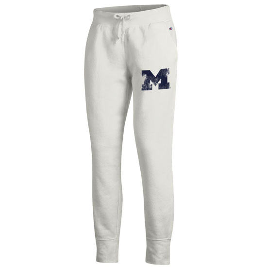 Champion University of Michigan Women's Off-White Rochester Jogger Fleece Pants