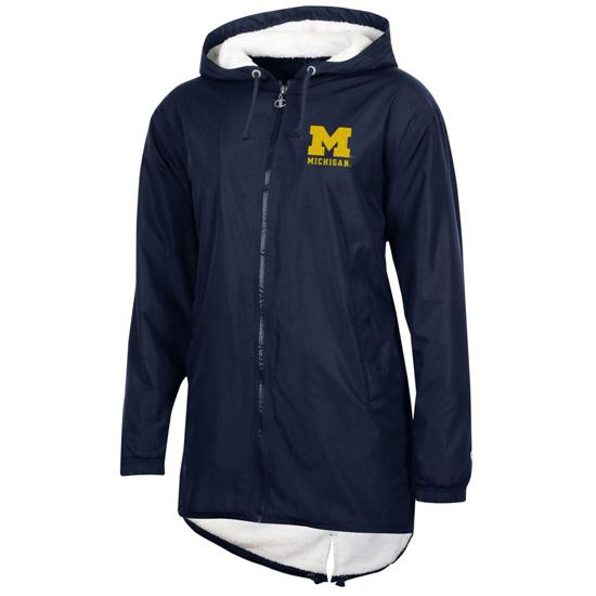 Champion University of Michigan Women's Navy Full Zip Stadium Jacket