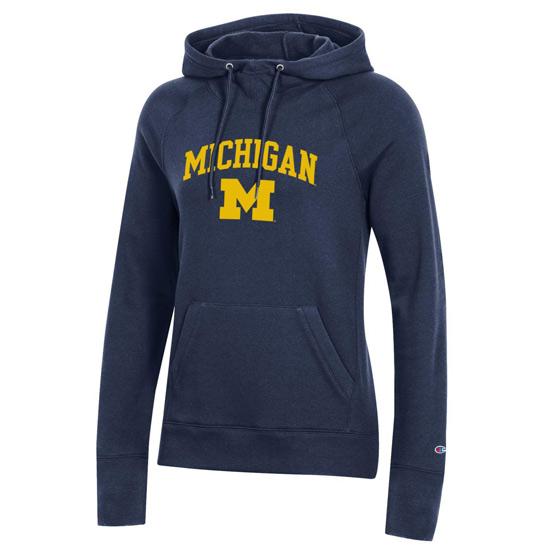 Champion University of Michigan Women's Navy University Hooded Sweatshirt