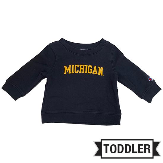Champion University of Michigan Toddler Navy Crewneck Sweatshirt