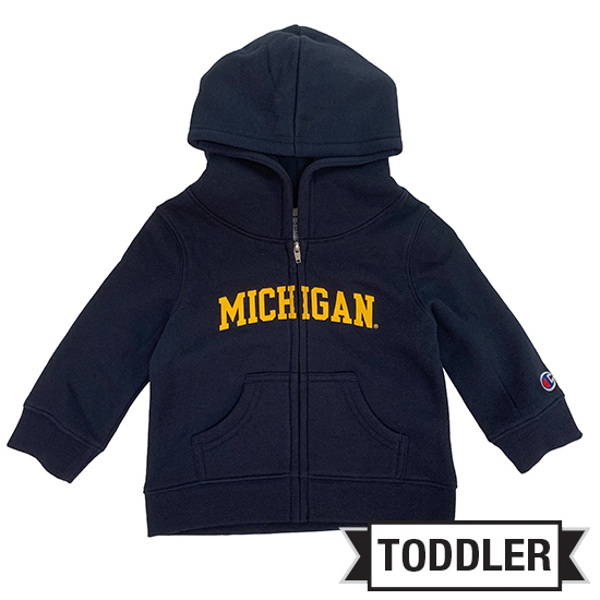 Champion University of Michigan Toddler Navy Full Zip Hooded Sweatshirt