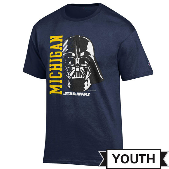 Champion University of Michigan Star Wars Youth Navy Darth Vader Tee