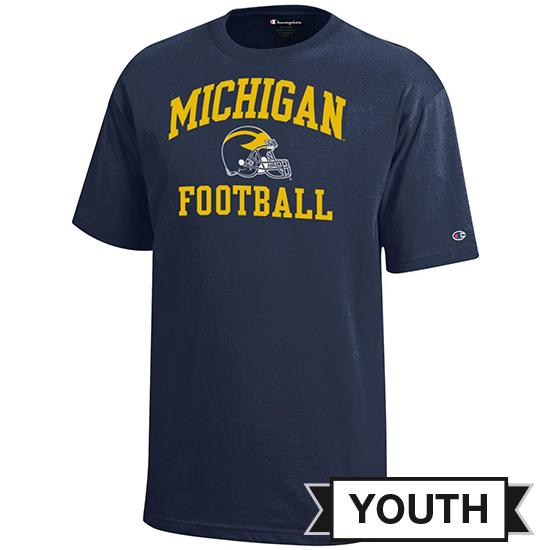 Champion University of Michigan Football Youth Navy Tee