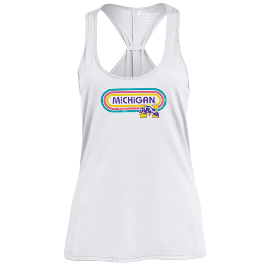 Champion University of Michigan Women's Lollapalooza x College Vault White Tank Top