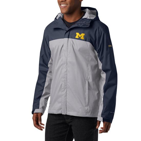 Columbia University of Michigan Navy/Gray Glennaker Storm Jacket