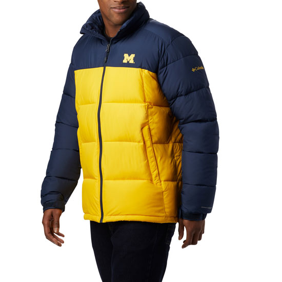 Columbia University of Michigan Navy/Yellow Pike Lake Insulated Full Zip Jacket