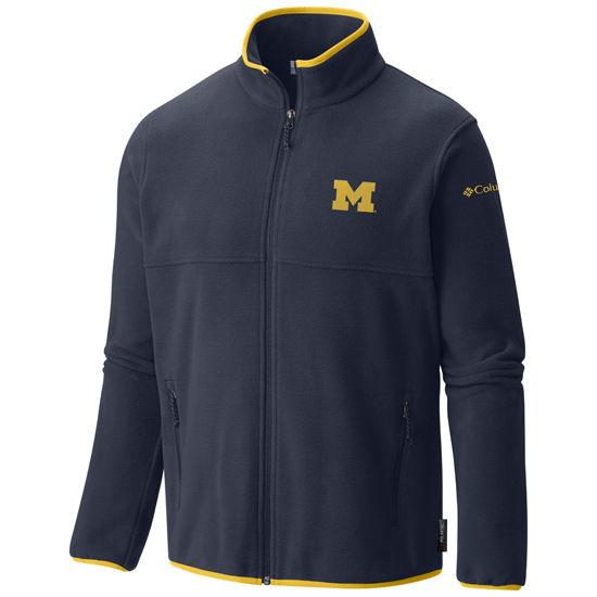 Columbia University of Michigan Navy Fuller Ridge Polartec Fleece ...