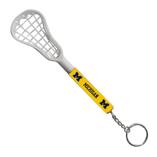 University of Michigan Lacrosse Stick Keychain