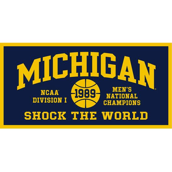 Collegiate Pacific University of Michigan Basketball 1989 National Champions Banner