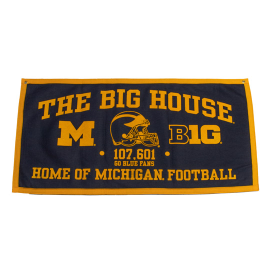 Collegiate Pacific University of Michigan ''The Big House'' Felt Banner