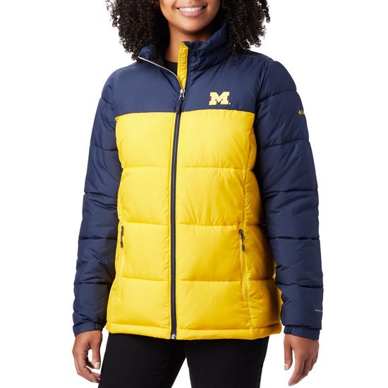 Columbia University of Michigan Women's Navy/Yellow Pike Lake Insulated Full Zip Jacket
