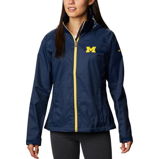 Columbia University of Michigan Women's Switchback Packable Rain Jacket