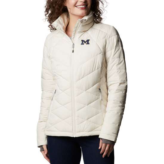 Columbia University of Michigan Women's White Heavenly Full-Zip Jacket