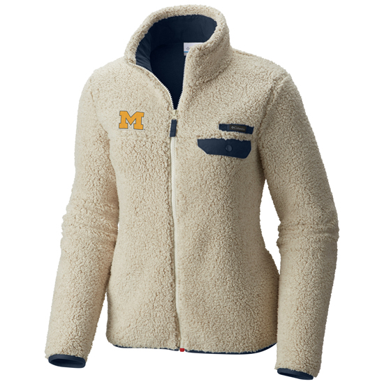 Columbia University of Michigan Women's Mountain Side Heavyweight Fleece Jacket