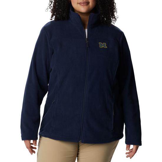 Columbia University of Michigan Ladies Navy Give & Go Full Zip Fleece Jacket